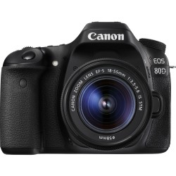 Canon EOS 80D and 18-55mm IS STM Lens (used)