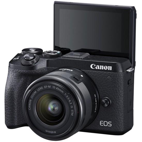 Canon EOS M6 Mark II (with EF-M 15-45mm F3.5-6.3 IS STM and Viewfinder)