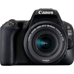 Canon EOS 200D Black and EF-S 18-55mm f/4-5.6 IS STM (used)