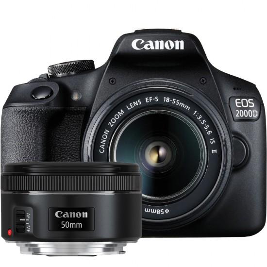 Canon EOS 2000D Twin Kit (with EF-S 18-55mm IS II & EF 50mm f1.8 STM)