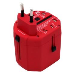 Caruba Multi Travel Adapter - Red