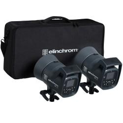 Elinchrom ELC 125 / 125 Twin TTL / HSS Heads, Bag & 16cm Reflectors