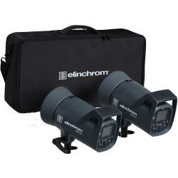 Elinchrom ELC 500 / 500 Twin TTL / HSS Heads, Bag & 16cm Reflectors