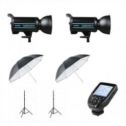 Godox QS600 II Twin Head Umbrella Kit