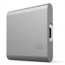 LaCie 1TB Portable SSD V2 USB-C Rescue - Moon Silver