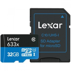 Lexar 32GB UHS-I Micro SDXC 633x + Adapter