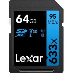 Lexar 64GB UHS-I U1 SDXC 633x Pro