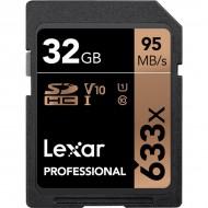 Lexar 32GB UHS-I U1 SDHC 633x Pro