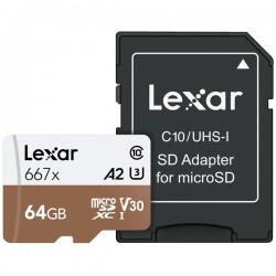 Lexar 64GB UHS-I Micro SDXC 667x Pro