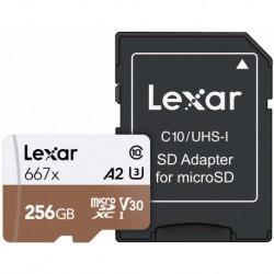 Lexar 256GB UHS-I Micro SDXC 667x Pro