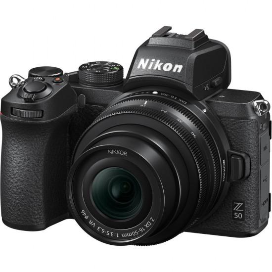 Nikon Z50 (with Z DX 16-50mm VR + FTZ Adapter)