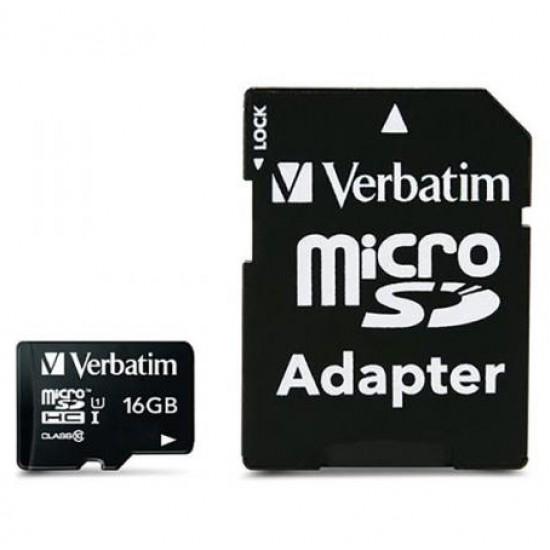 Verbatim 16GB Micro SDHC Card Including Adapter
