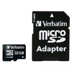 Verbatim 32GB Micro SDHC Card Including Adapter